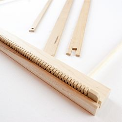 A Weaving Frame & Weaving Kit NEW BAG/COMB (20 Inch-Blush)
