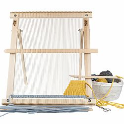 A Weaving Frame with Stand NEW BAG/COMB (20 Inch - Blush). The Deluxe Kit!