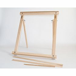 A Weaving Frame with Stand NEW BAG/COMB (20 Inch - Gray/Moss). The Deluxe Kit!