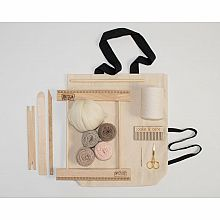 A Weaving Frame & Weaving Kit NEW BAG/COMB (10 Inch - Blush)