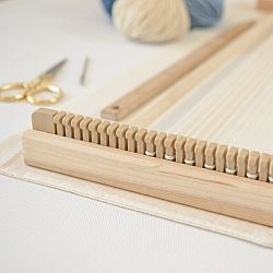 A Weaving Frame & Weaving Kit NEW BAG/COMB (14 Inch -Blush).