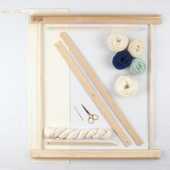 Wall Art Loom Kit : Quot frame loom weaving kit everything you need to make