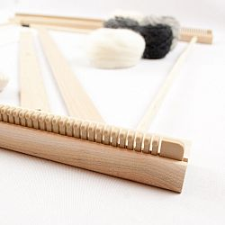 "A Weaving Frame & Weaving Kit (20"" - Gray).  Everything you need to make your own woven wall hanging"