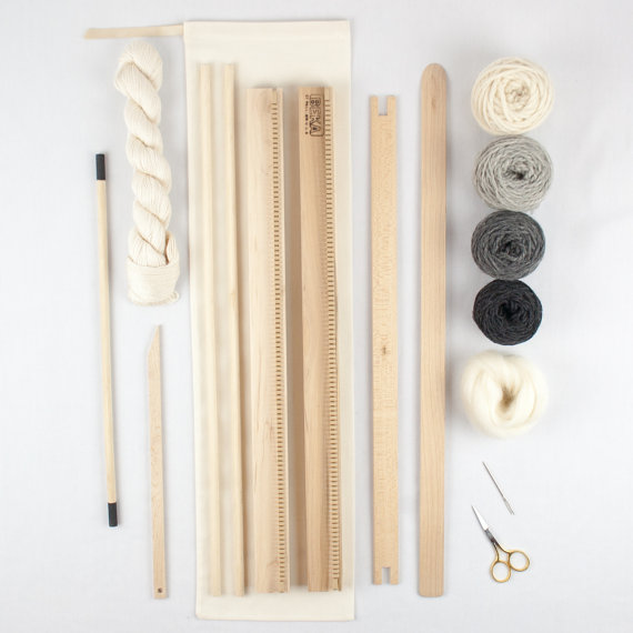 A Weaving Frame Weaving Kit 20 Gray Everything You Need To