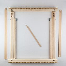 A Weaving Frame with Stand (20 Inch - Blush).  The Deluxe Kit / Everything You Need To Make Your Own Woven Wall Hanging.