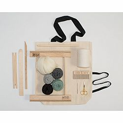 A Weaving Frame & Weaving Kit NEW BAG/COMB (10 Inch - Gray/Moss)